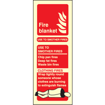 Fire Blanket Photo. Pictograph (photo. Self Adhesive Vinyl,200 X 75mm)