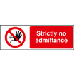 Strictly No Admittance (Self Adhesive Vinyl,300 X 100mm)