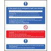 In The Event Of An Emergency Spill (Self Adhesive Vinyl,300 X 250mm)