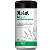 Distel High Level Disinfectant Wipes
