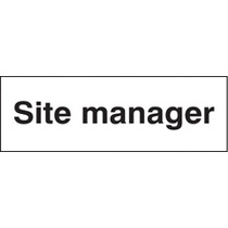 Site Manager (Rigid Plastic,300 X 100mm)