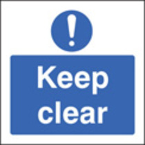 Keep Clear (Rigid Plastic,400 X 400mm)
