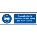 Eye Protection Is Provided For Safety (Self Adhesive Vinyl,200 X 150mm)