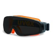 uvex u-sonic Goggle Grey/Orange Frame Clear Lens / Magnetic Grey Sunglare Lens