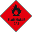 Flammable Gas (Rigid Plastic,100 X 100mm)