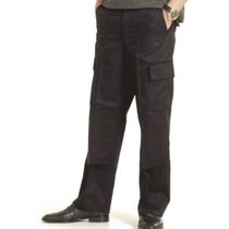 UC904 Black Cargo Trousers with Knee Pad Pockets - Reg Leg