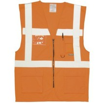 Portwest S476 Executive Hi-Vis Orange Waistcoat