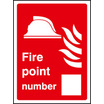 Fire Point Number (Self Adhesive Vinyl,200 X 150mm) (21032E)