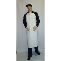 White PVC Heavyweight Apron - 48x36