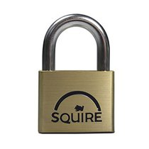 Squire LN5 - Lion Range - 50mm Premium Solid Brass Double Locking Padlock - Open Shackle 50x30mm