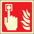 Fire Alarm Call Point Symbol (Rigid Plastic,100 X 100mm)