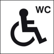Disabled Wc Symbol (Self Adhesive Vinyl,200 X 200mm) (27026F)