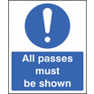 All Passes Must Be Shown (Rigid Plastic,300 X 250mm)