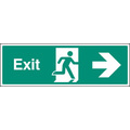 Exit - Right (Rigid Plastic,450 X 150mm)