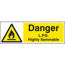 Lpg Highly Flammable (Self Adhesive Vinyl,600 X 400mm)