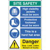 Site Safety Board 600x900mm (58036)