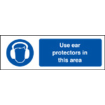 Use Ear Protectors In This Area (Rigid Plastic,200 X 150mm)