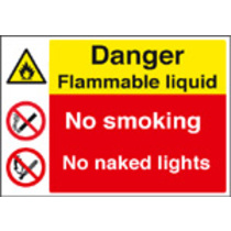 Flammable Liquid (Self Adhesive Vinyl,600 X 450mm)
