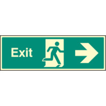 Exit Right (Self Adhesive Vinyl,300 X 100mm) (22012G)