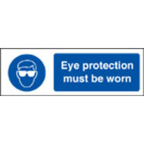 Eye Protection Must Be Worn (Rigid Plastic,600 X 200mm)