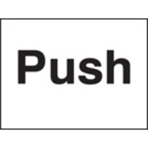 Push (Self Adhesive Vinyl,200 X 150mm)