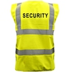 Pre-Printed SECURITY Saturn Yellow Hi-Vis Waistcoat