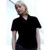 65014 Ladies Short Sleeve Black Poplin Shirt