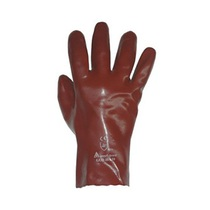 KeepSAFE 303025100 GLO48 Fully Coated PVC Gauntlet Gloves Red 18