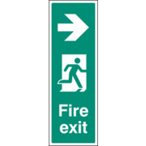 Fire Exit Right (portrait) (Self Adhesive Vinyl,450 X 150mm) (22058L)