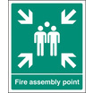 Fire Assembly Point (aluminium,600 X 450mm) (62059Q)