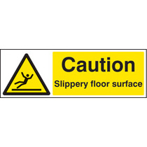 Caution Slippery Floor Surface (Rigid Plastic,300 X 100mm)