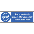 Eye Protection Provided (Rigid Plastic,300 X 100mm)