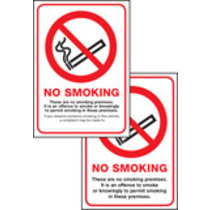 Scotland No Smoking Premises Double Sided Self Adhesive Self Adhesive Vinyl