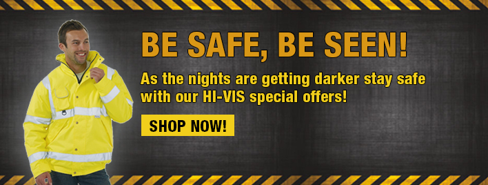 Be Safe, Be Seen as the nights are getting darker with our Hi-Vis Special Offers!