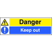 Danger Keep Out (Self Adhesive Vinyl,600 X 200mm)