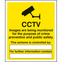 Cctv Images Being Monitored (Rigid Plastic,300 X 250mm)