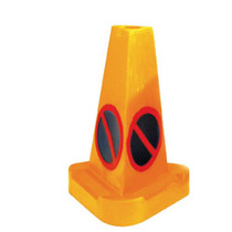 Triangular 'No Waiting' Hazard Warning Cone