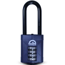 Squire CP50/2.5 - Weather Resistant 50mm Combi Padlock - 4 wheel - Long Shackle 50x63mm