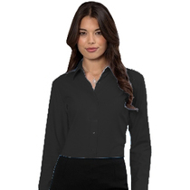 932F Ladies Long Sleeve Black Blouse