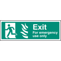 Emergency Exit - Left Htm (Rigid Plastic,450 X 150mm)