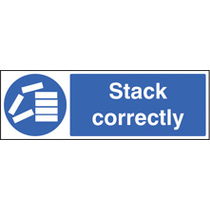 Stack Correctly (Self Adhesive Vinyl,300 X 100mm)