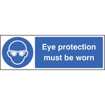 Eye Protection Must Be Worn (Rigid Plastic,400 X 300mm)