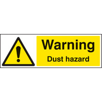 Warning Dust Hazard (Self Adhesive Vinyl,300 X 100mm)
