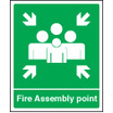Fire Assembly Point (Self Adhesive Vinyl,300 X 250mm) (22059H)