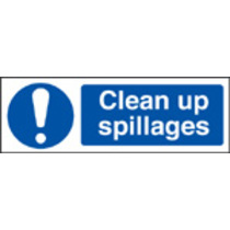 Clean Up Spillages (Rigid Plastic,300 X 100mm)