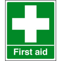 First Aid Safety Sign Rigid Plastic