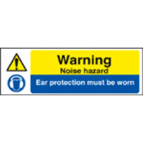 Warning Noise Hazard (Self Adhesive Vinyl,600 X 200mm)