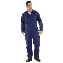 Navy Polycotton Zip Front Coverall - Large (44/46