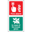 Fire Alarm / Break Glass (Rigid Plastic,200 X 100mm)