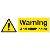 Warning Anti Climb Paint (Rigid Plastic,300 X 100mm)